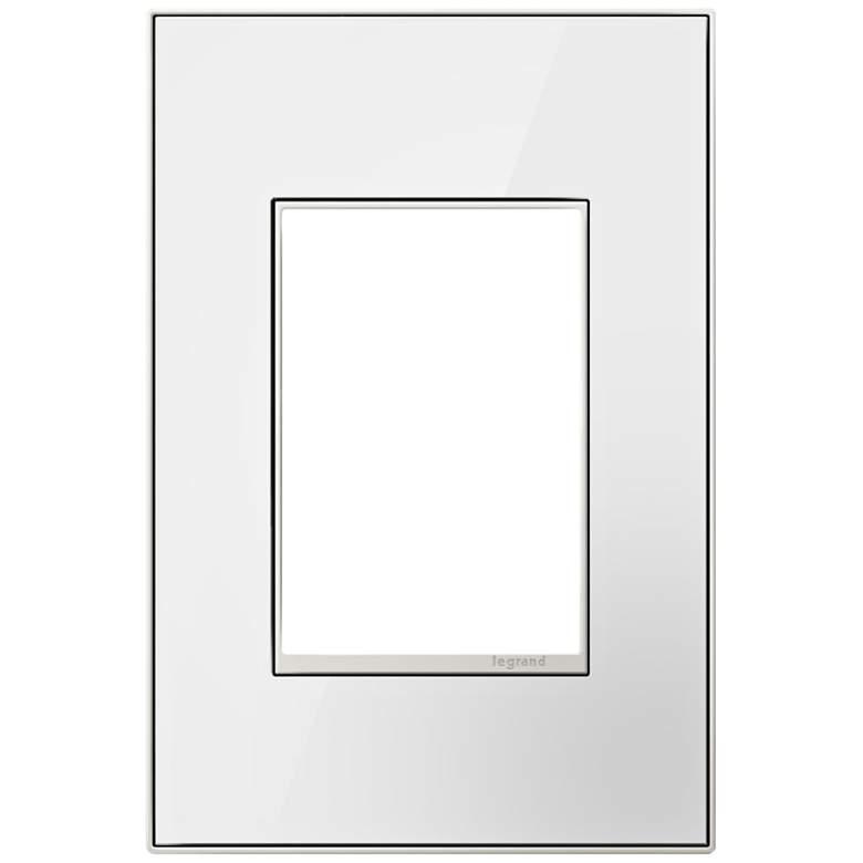 Mirror White on White 1-Gang 3-Module Metal Wall