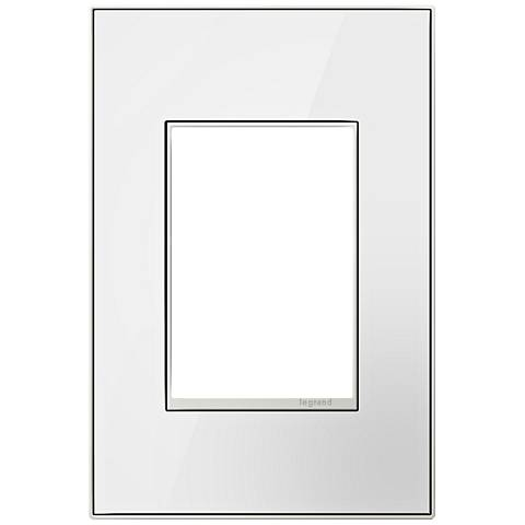 Mirror White on White 1-Gang 3-Module Metal Wall Plate