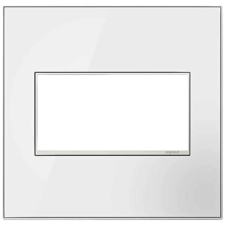 adorne® Mirror White on White 2-Gang Metal Wall