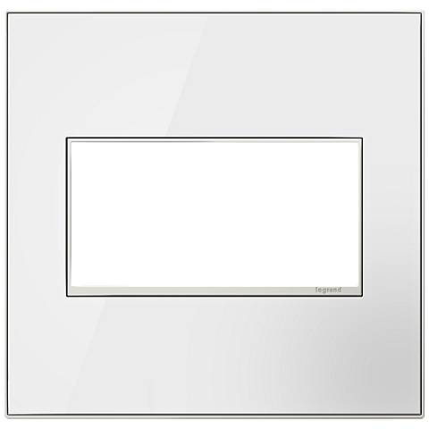 adorne® Mirror White on White 2-Gang Metal Wall Plate