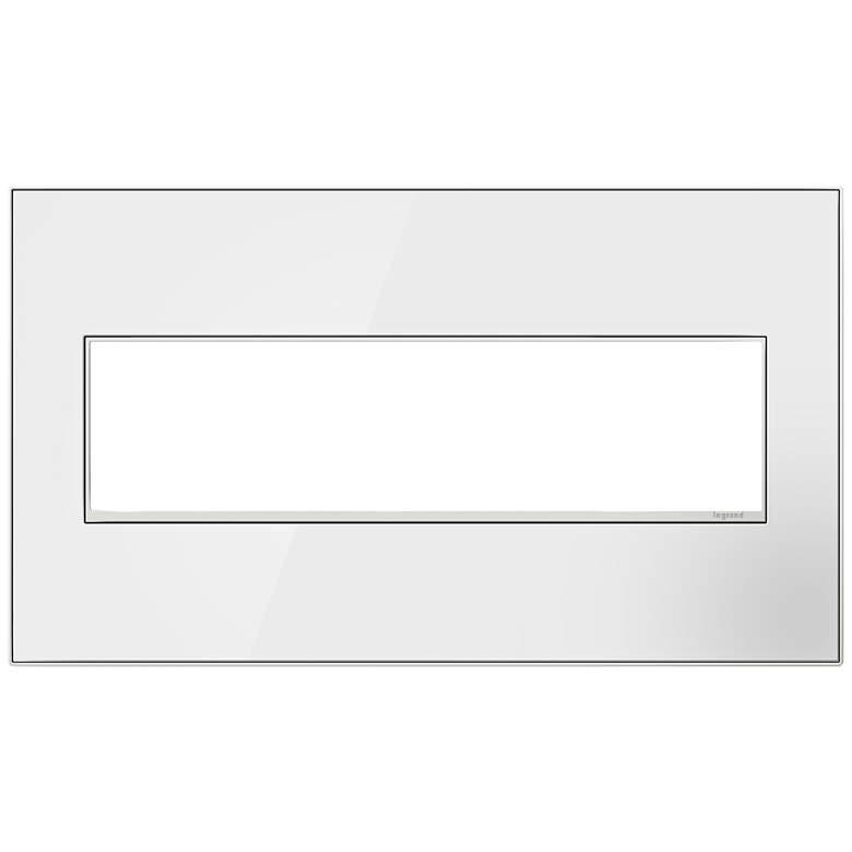 adorne® Mirror White on White 4-Gang Metal Wall