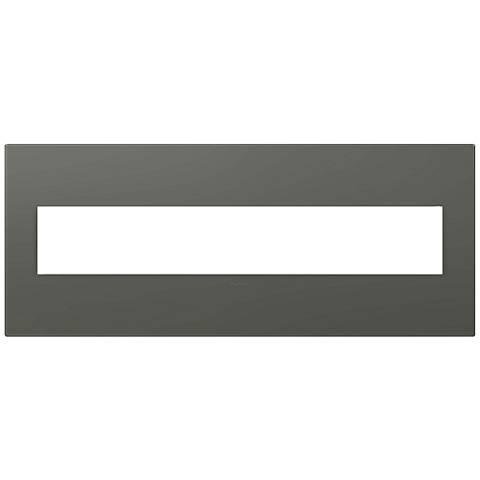 adorne® Soft Touch Moss Gray 6-Gang Wall Plate