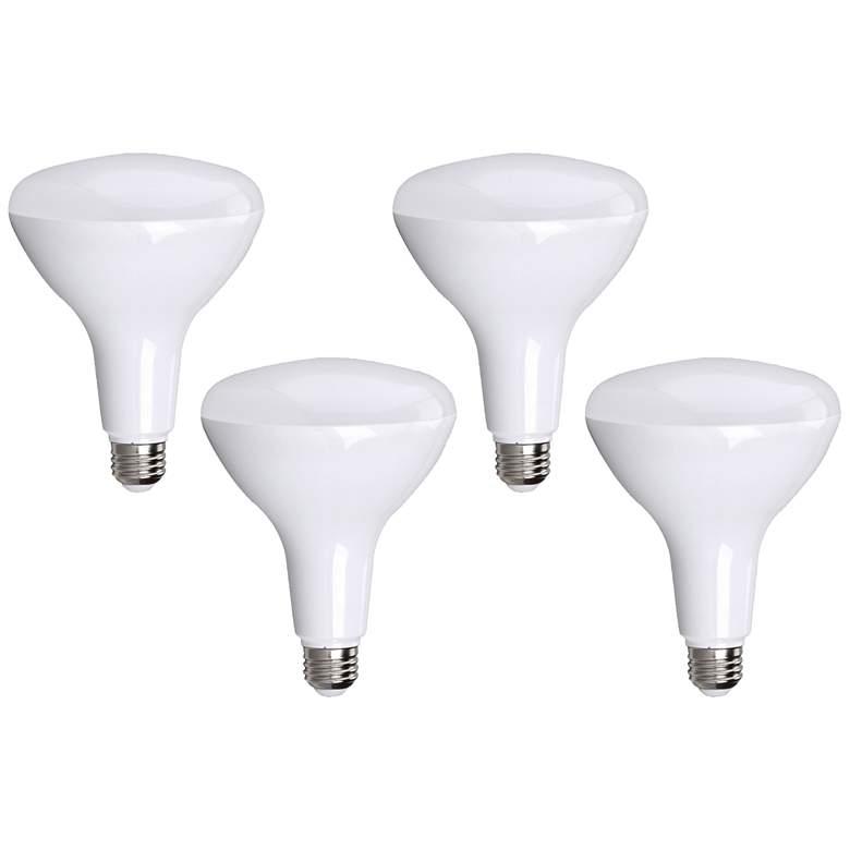 Bioluz 13 Watt BR40 Frosted LED Light Bulb 4-Pack