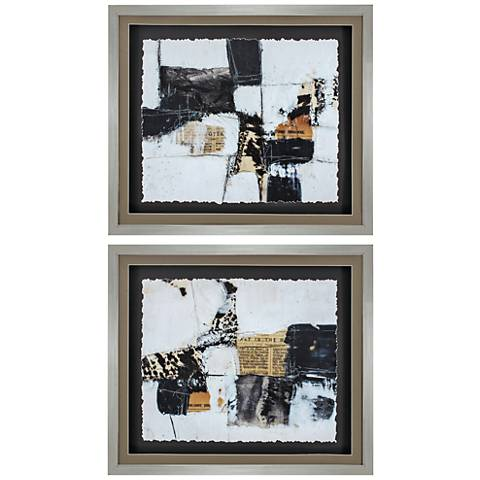 "Art House 30"" Wide 2-Piece Framed Abstract Wall Art Set"