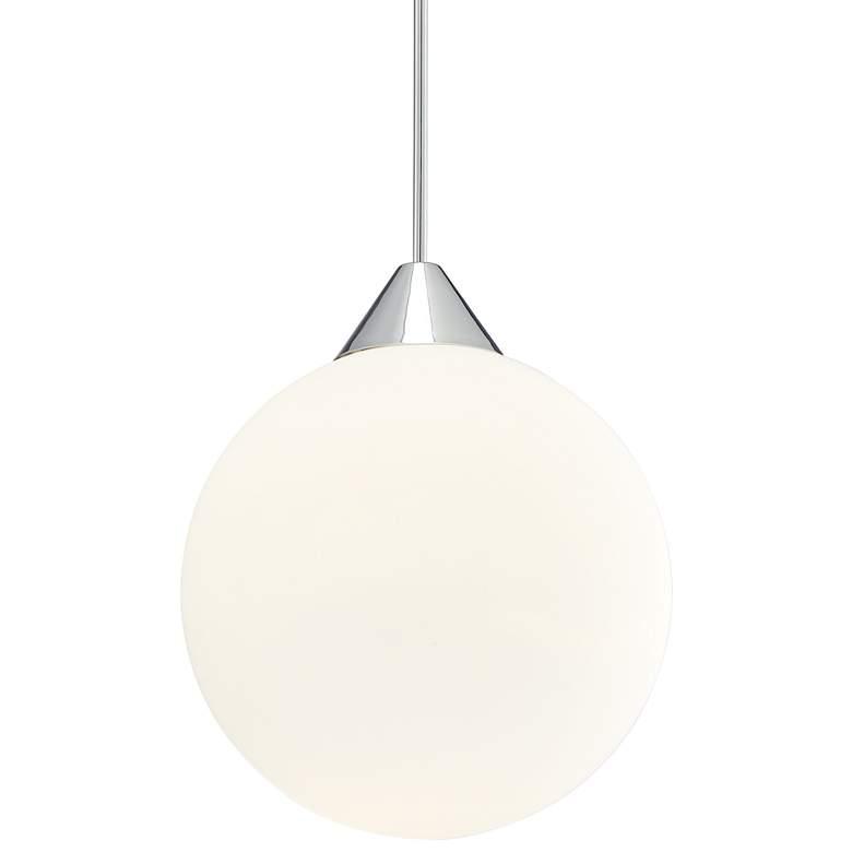 "George Kovacs Simple 16"" Wide Chrome Pendant Light"