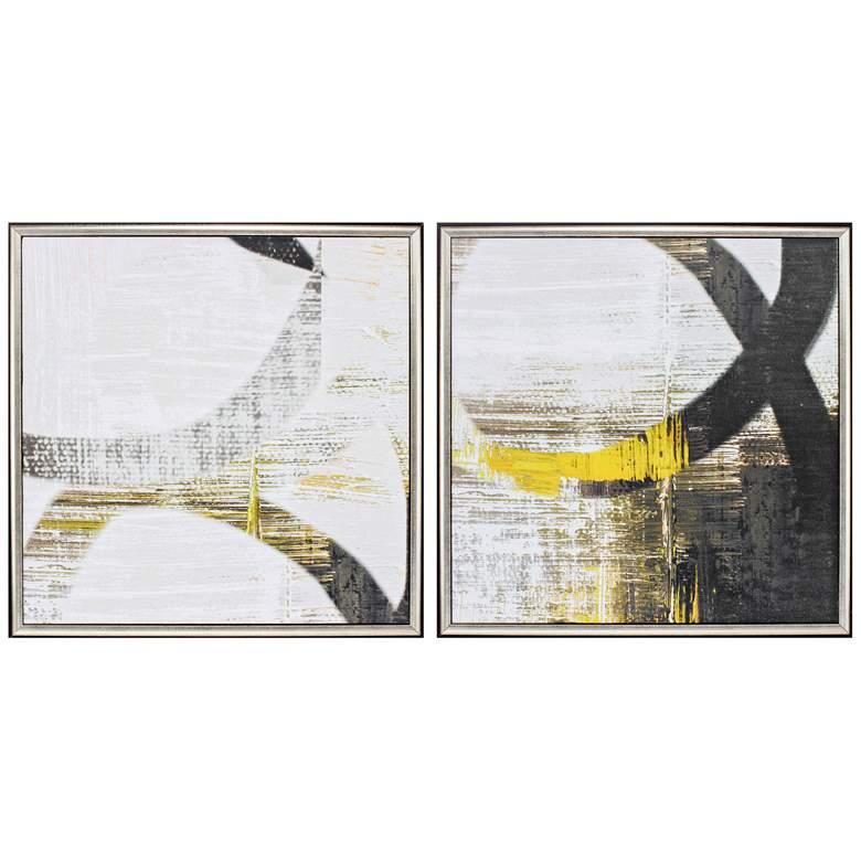 "Bell Basics 25"" Square 2-Piece Framed Wall Art Print Set"