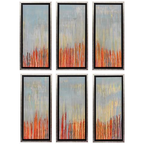 """Memory 26"""" High 6-Piece Framed Textured Wall Art Set"""