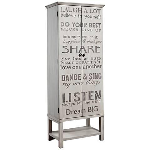 PFC Accents Grandma's Hand-Painted Words 2-Door Wine Cabinet