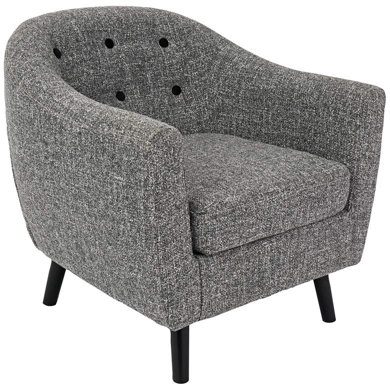 Rockwell Dark Gray Noise Fabric Accent Chair
