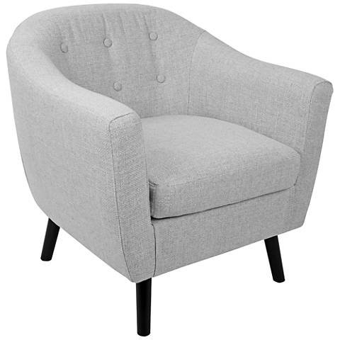 Rockwell Light Gray Noise Fabric Accent Chair