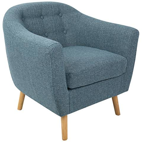 Rockwell Blue Noise Fabric Accent Chair