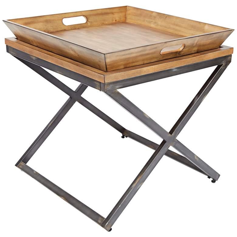 "Calhoun 25 3/4"" Wide Industrial Modern Tray Coffee Table"