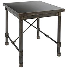 Oxford Industrial Dark Bronze Metal Square End Table