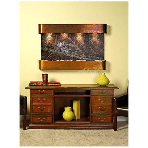 """Sunrise Springs 35"""" High Round Rustic Marble Indoor Fountain"""