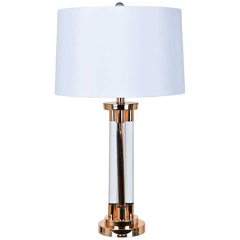 Crestview Collection Framburg Rose Gold Metal Table Lamp