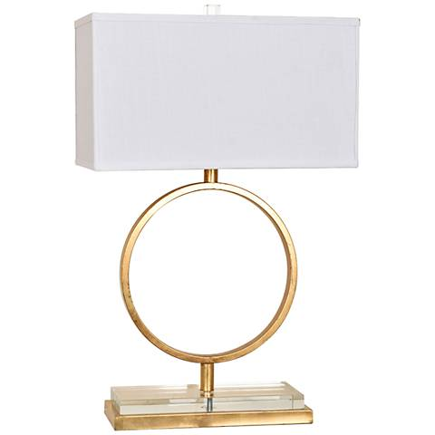 Crestview Collection Aldrich Gold Leaf Open Ring Table Lamp