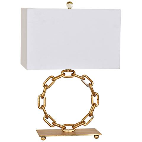 Crestview Collection La Salle Gold Leaf Chain Ring Table Lamp