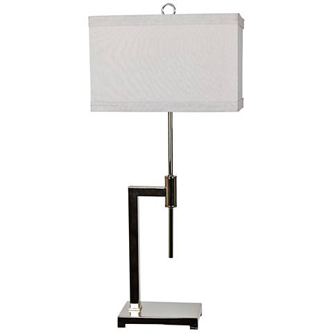 Crestview Collection Vincent Chrome Press Metal Table Lamp
