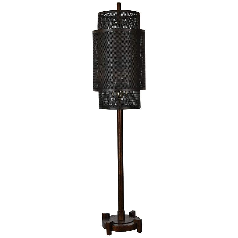 Crestview Collection Fleetwood Antique Gold Metal Table Lamp