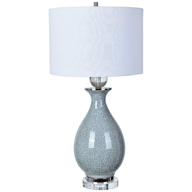 Crestview Collection Jarvis Cool Gray Ceramic Urn Table Lamp