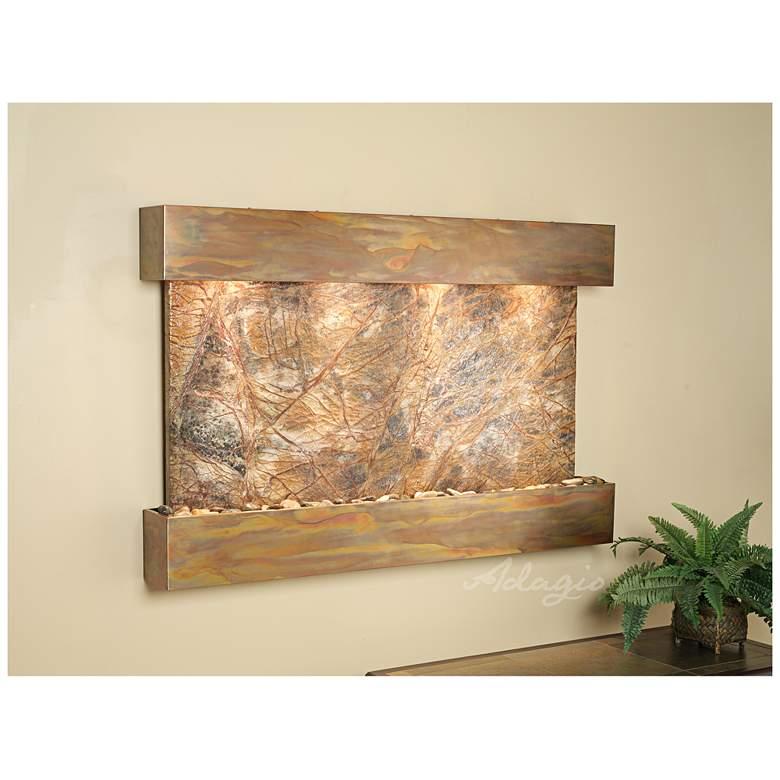 "Sunrise Springs 35"" High Rustic Brown Marble Indoor Fountain"