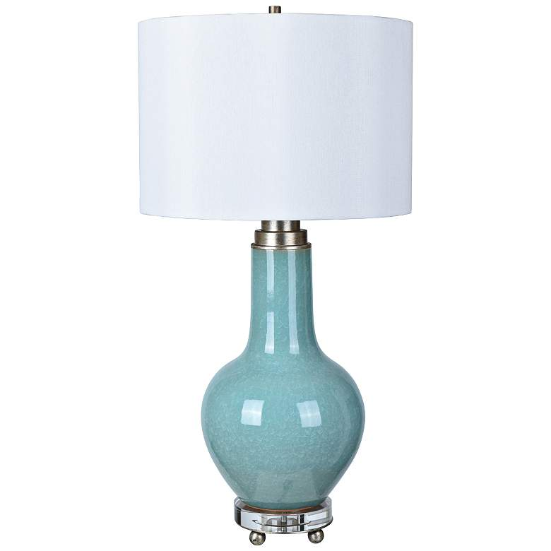 Crestview Collection Penta Blue Ceramic Jug Table Lamp