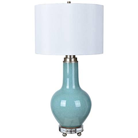 Nina Clear Blue Glass Jug Table Lamp 9m150 Lamps Plus