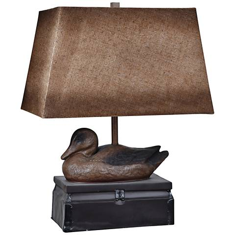Crestview Collection Vintage Duck Antique Brown Table Lamp