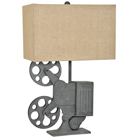 Crestview Collection Movie Time Gray Metal Novelty Table Lamp