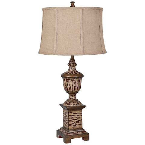 Crestview Collection French Heritage Antique Woodgrain Table Lamp