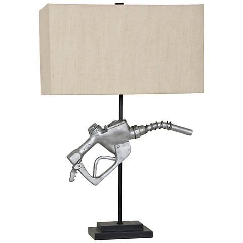 Crestview Collection Fuel Nozzle Silver Novelty Table Lamp