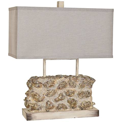Crestview Collection Oyster Sands Wide Sculptural Table Lamp