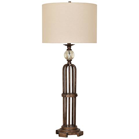 Crestview Collection Espinoza Vintage Bronze Tall Table Lamp