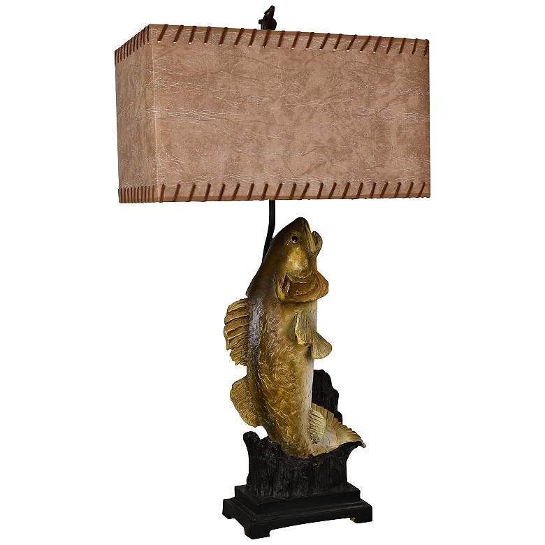 Crestview Collection Walleye Sportsman Bronze Table Lamp