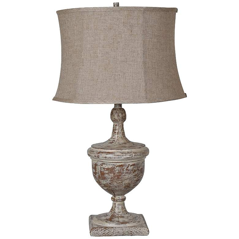 Crestview Collection Dolvan Antiqued Wood Urn Table Lamp