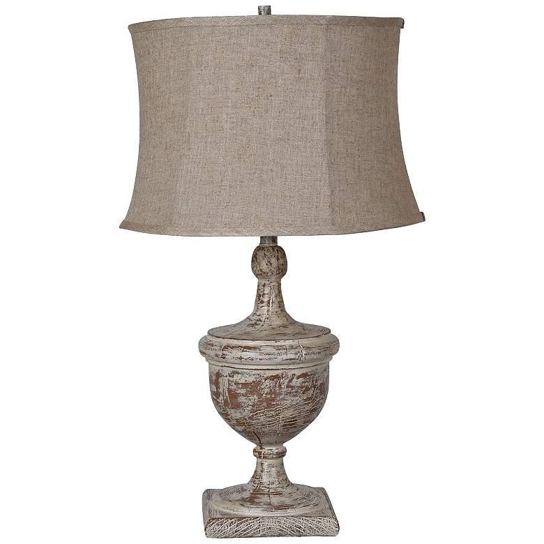 Crestview Collection Dolvan Antiqued Wood Urn Table Lamp