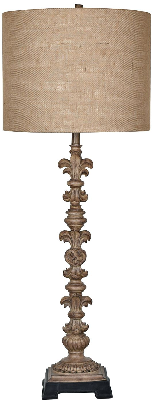 Crestview Collection Beezley Antique Cream Candlestick Table Lamp