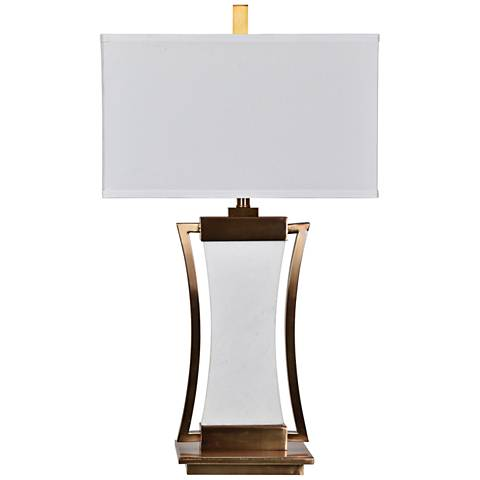 Crestview Collection Sullivan Brass And Marble Table Lamp 15p75