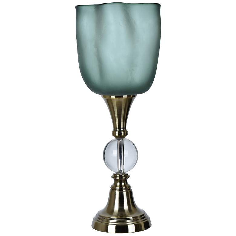 Crestview Collection Glow Brushed Nickel Uplight Accent Lamp