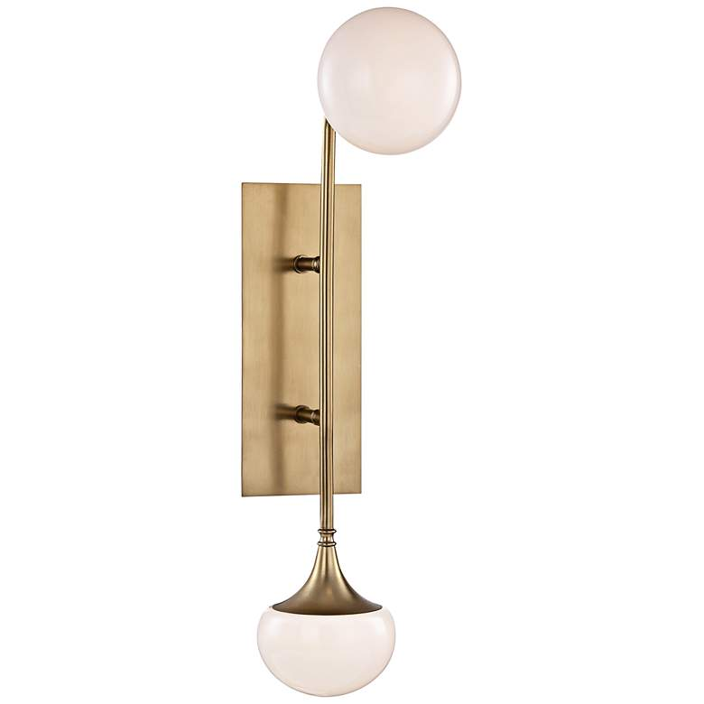 """Hudson Valley Fleming 22 1/2""""H Aged Brass 2-LED Wall Sconce"""
