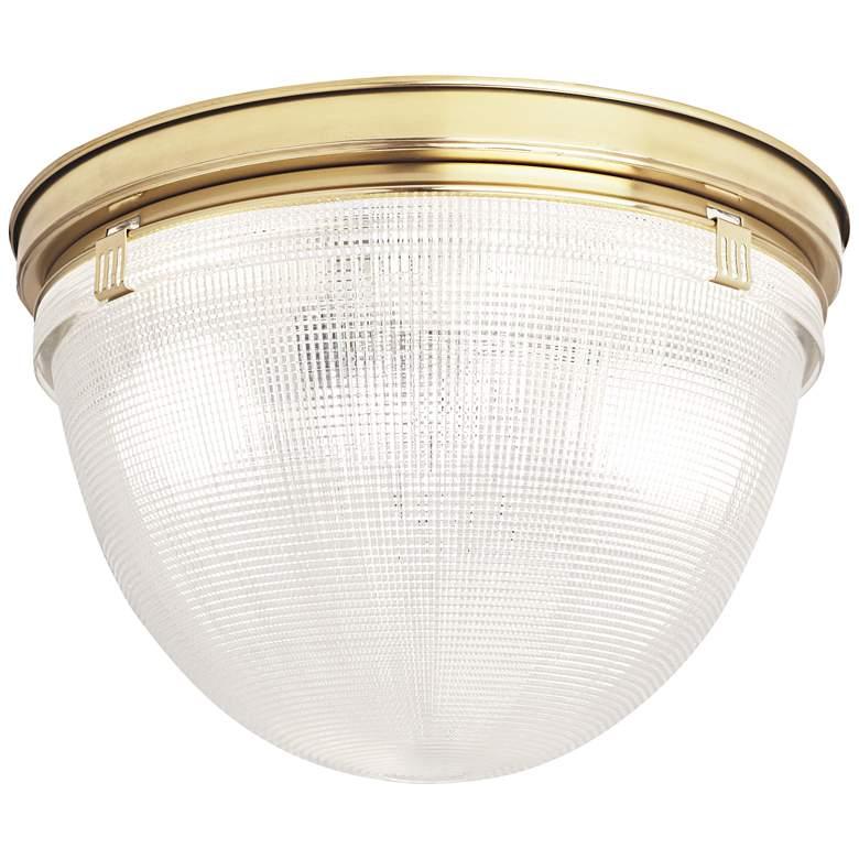 "Robert Abbey Brighton 13 3/4""W Modern Brass Ceiling Light"