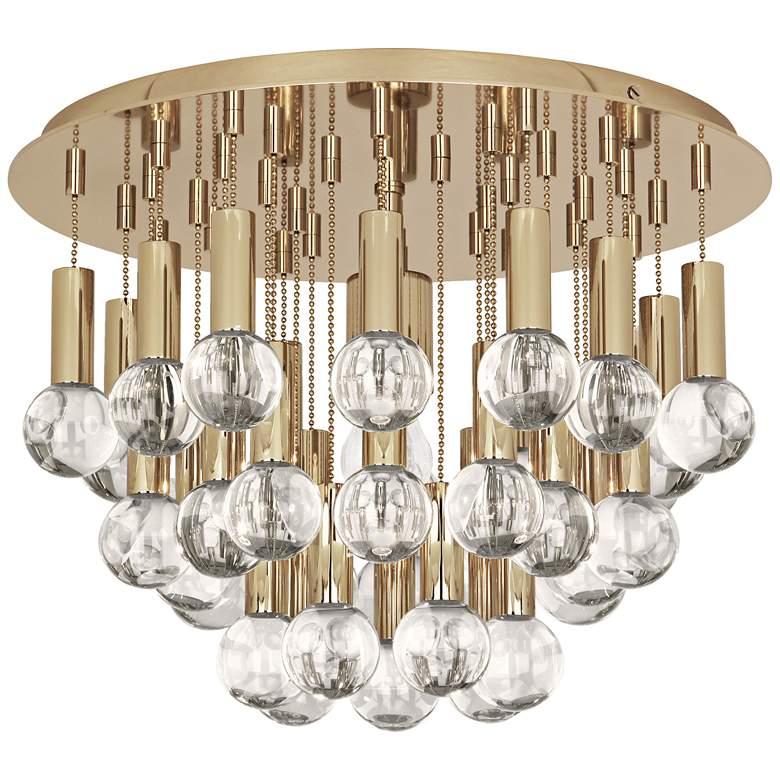 "Jonathan Adler Milano 14 3/4""W Polished Brass Ceiling"