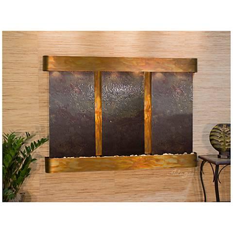 "Olympus Falls 54""H Round Rustic Featherstone Indoor Fountain"