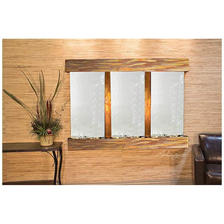 "Olympus Falls 54""H Rustic Silver Mirror Indoor Wall"