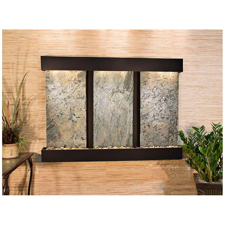 """Olympus Falls 54""""H Green Slate Indoor Copper Wall"""