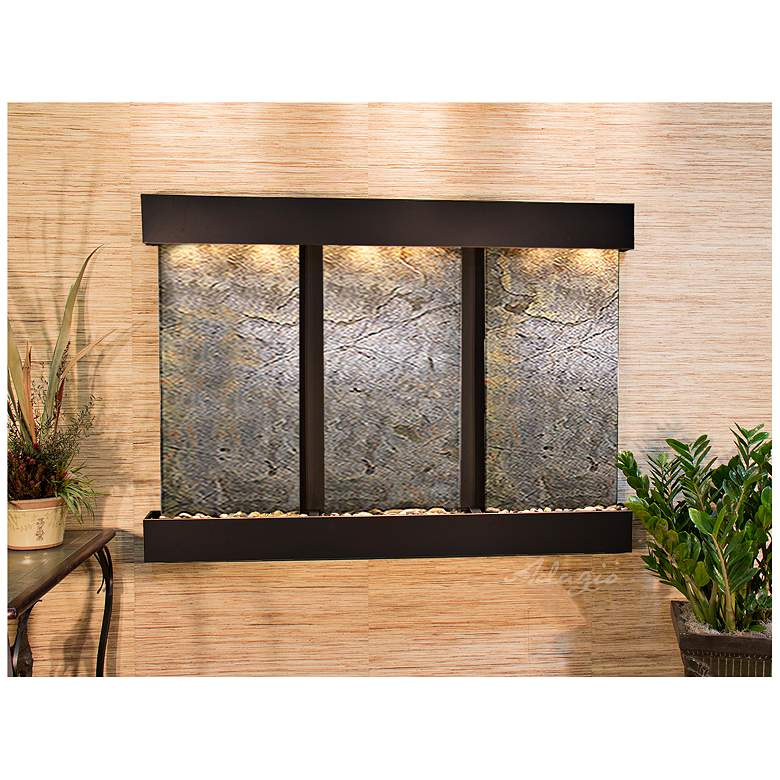 """Olympus Falls 54""""H Green Stone Indoor Copper Wall"""