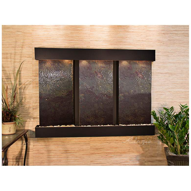 """Olympus Falls 54""""H Featherstone Indoor Copper Wall Fountain"""