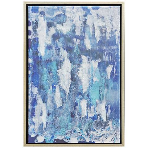 "Confetti Embellished 30"" High Framed Canvas Wall Art"