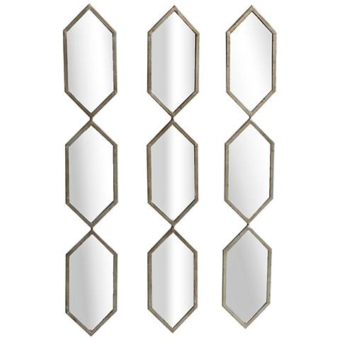 "Triple Play Champagne 6&qot; x 38"" 3-Piece Accent Mirror Set"