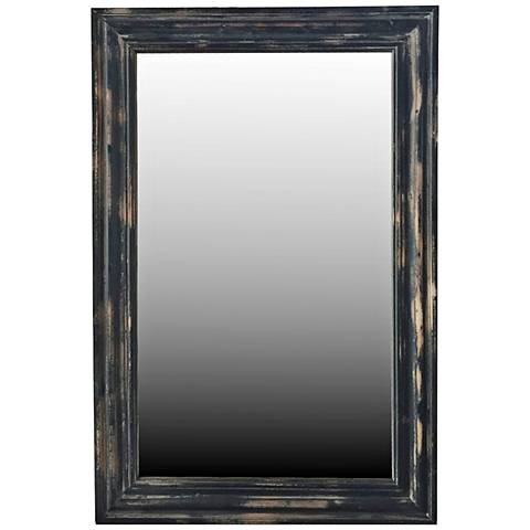 "Crestview Adair Black Rub 24"" x 36"" Framed Wall Mirror"